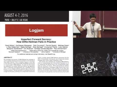 DEF CON 24 Crypto and Privacy Village - David Wong - How to Backdoor Diffie-Hellman