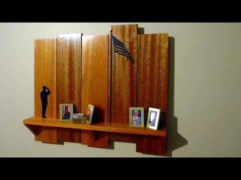 French Cleat Shelf With Patriotic CNC Engraving