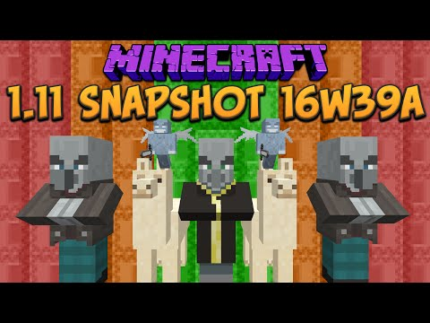 Minecraft 1.11 Snapshot 16w39a Llama. Illagers, Shulker Box & Observer Block