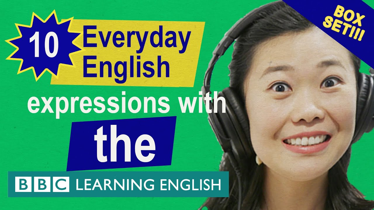 English vocabulary mega-class! Learn 10 everyday English expressions with 'the' in just 23 minutes!