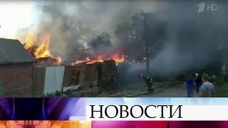 Вцентре Ростова-на-Дону горит несколько частных домов.