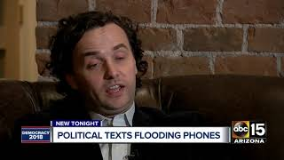 Political text messages flooding Arizona phones ahead of Election Day