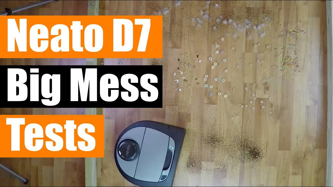 Neato Botvac Connected D7 - Big Mess Tests - Carpet / Hard Floor