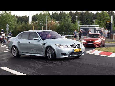Crazy BMW's Drifting Roundabout in Rain - M5 E60 Eisenmann, M2 Competition, M3 F80, 550hp M4 Etc!!