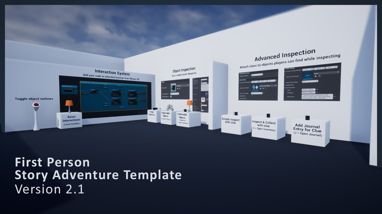 Repeat First Person Story Adventure Template for Unreal Engine