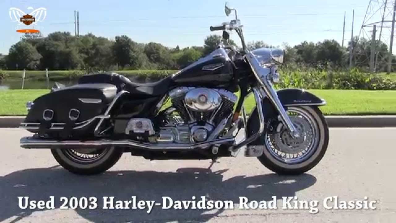 used 2003 harley davidson flhrci road king classic youtube. Black Bedroom Furniture Sets. Home Design Ideas