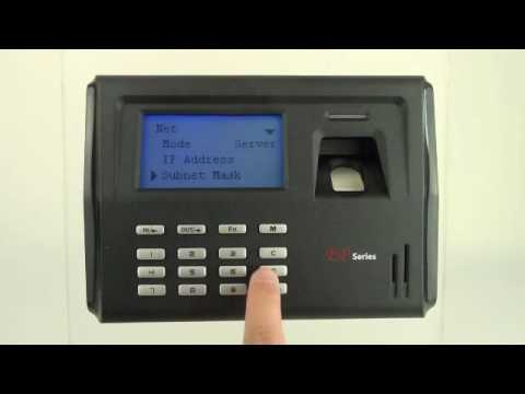 TCP/IP LAN Communication Biometric Setting