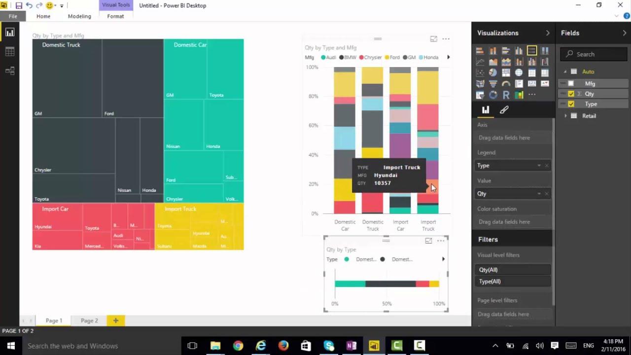 also using custom visuals mekko chart youtube rh