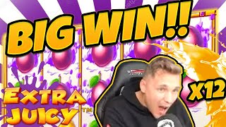 HUGE WIN!!! Extra Juicy BIG WIN - Casino games from CasinoDaddy (Free spins)