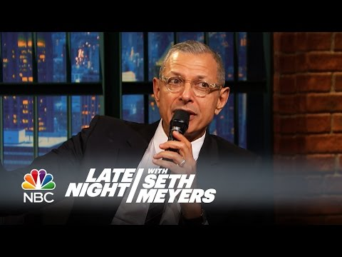 Jeff Goldblum Sings His Own Jurassic Park Theme Lyrics - Late Night with Seth Meyers