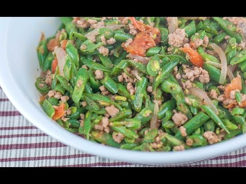 Ginisang Baguio Beans With Pork