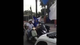 I festeggiamenti dei tifosi del Siderno per la promozione