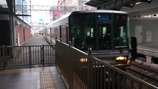(437)【JR西】223系2000番台 W37編成+V44編成 到着
