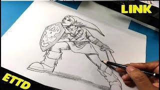 zelda legend drawing draw link easy step nintendo steps