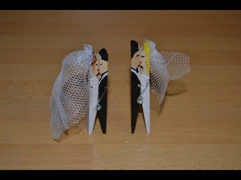 Cmo hacer un souvenir para bodas con pinzas facilisimocom YouTube