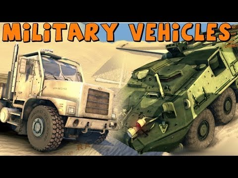 Spin Tires | Military Vehicles Mod Collection | Download Links In Description