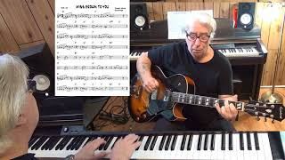 MISS BROWN TO YOU - Jazz guitar & piano cover ( Richard A. Whiting & Ralph Rainger )