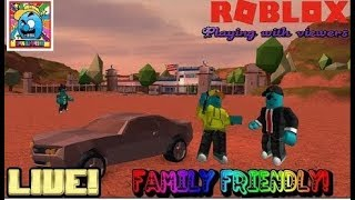 Roblox #20 (2) | PLAYING WITH VIEWERS! | LIVE | (sjk livestreams #203)