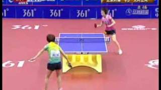 zhang yining vs wu yang 2009 china table tennis super league