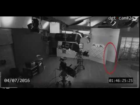 Ghost in the office in Colombia filmed on CCTV camera
