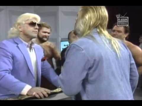 Four Hor Promo and Brawl with Michael Hayes NWA 1987