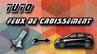 TUTO changer l'ampoule d'un feux de croisement Renault Scenic 3 (how to change dipped headlight)