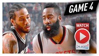 James Harden vs Kawhi Leonard Game 4 MVP Duel Highlights (2017 Playoffs WCSF) Spurs vs Rockets
