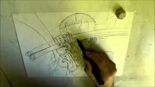 How to draw Fujiki from Shigurui [  シグルイ ]