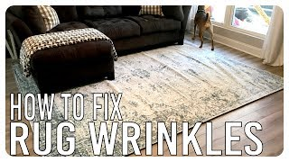 How to Get Wrinkles Out of Rugs DIY
