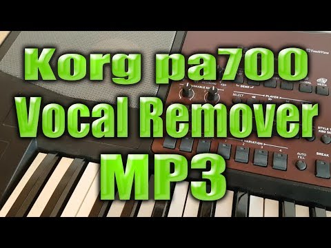 Korg pa700 - Vocal Remover from Mp3