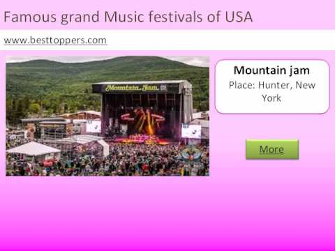 Top 10 Famous grand Music festivals of USA - www besttoppers com