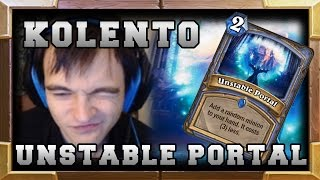 Kolento 1HP Survival with Unstable Portal - GvG Hearthstone