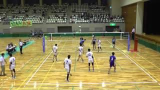 2015 ミニ国体 中国ブロック大会 バレーボール少年男子 岡山県VS鳥取県 1セット