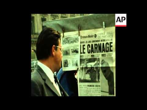 SYND 07/09/72 JEWS IN PARIS DEMONSTRATE AGAINST THE MUNICH OLYMPIC MASSACRE