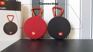 how to connect 2 JBL Clip 2 speakers