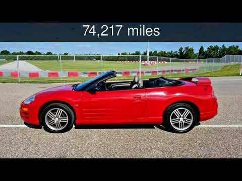 2003 Mitsubishi Eclipse Convertible Spyder V 6 Fast Gts Used Cars