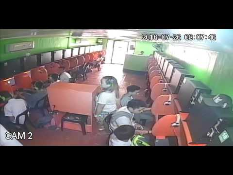 CCTV: Student Caught Vandalizing Internet Shop Table