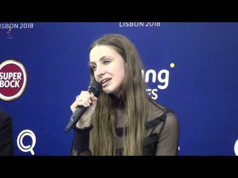 Eurovision 2018 - Press conference Sennek after second rehearsal - Belgium