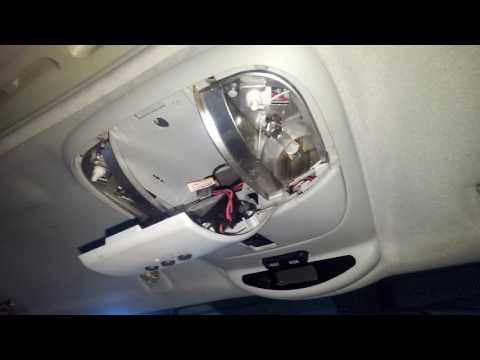 MERCEDES ML-Calss W163 How to Remove Replace Overhead Console