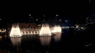 Dubai Fountain 2/11/2016 (Third Avenue Cafe)