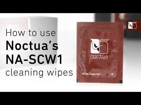 How to clean thermal paste using Noctua's NA-CW1 cleaning wipes
