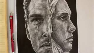 (Ruined) Klaus and Caroline - Drawing - (The Vampire Diaries)