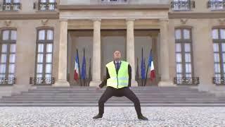 Emmanuel Macron-Danse gilet jaune