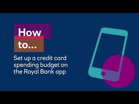 How to set up a credit card spending budget on the Royal Bank app | Royal Bank