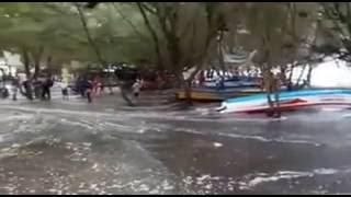 Banjir Rob Pantai Kwaru Bantul Yogyakarta
