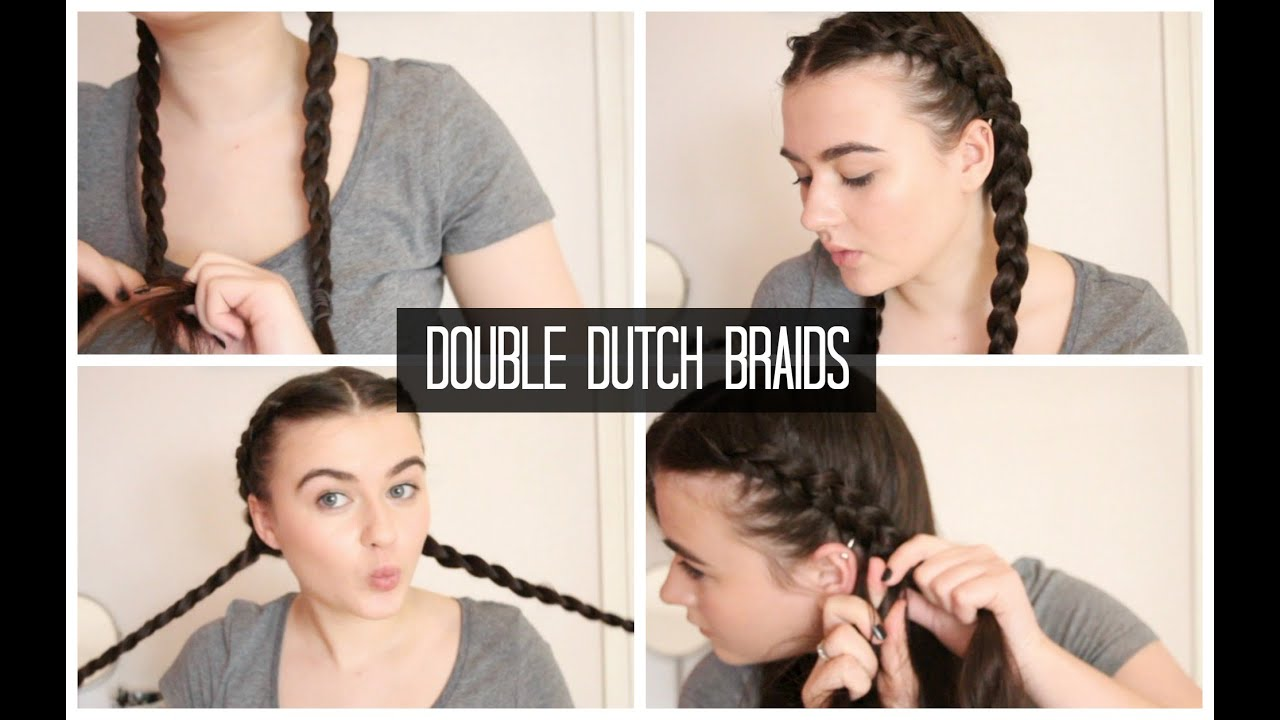 Double Dutch Braids | Quick & Easy Hairstyles - YouTube