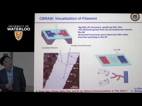 Professor Wei Lu - Waterloo Institute for Nanotechnology (WIN) Seminar