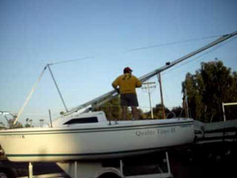 Capri 18 mast raisinglowering system youtube publicscrutiny Images