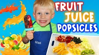 DIY Summer Fresh Fruit Popsicle Treats - Kid Size Cooking