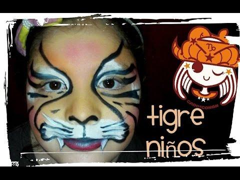 Maquillajes Para Ninos De Tigre Fiestas De Disfraz Festejos Pinta Caritas